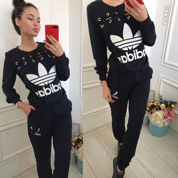 NEO Women's wear sports suit Chicken eye style yoga Sweater Long sleeves + trousers Two pieces Jogging clothes