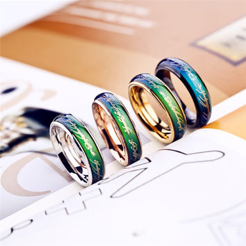 Lord of the rings Temperature change color Mood Ring rings for women