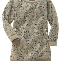 Gap Baby Quilted Floral Sweatshirt Dress