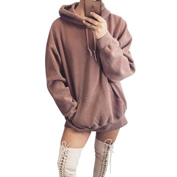 Velour Warm Hoodie Women Long Sleeve Autumn Winter Keep Warmth Sweatshirt Casual Jumper Tracksuit Pullover Female