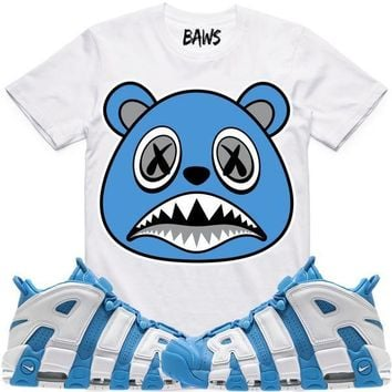UNC BAWS Sneaker Tees Shirt - Uptempo University Blue