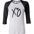 xo 3/4 Sleeve Baseball Ladies Jersey