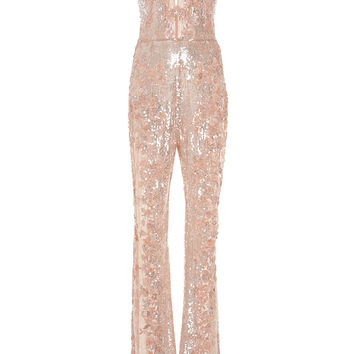 Beaded Tulle Jumpsuit | Moda Operandi