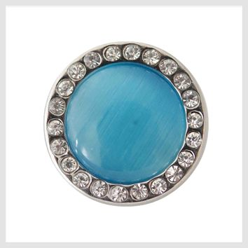 Turquoise Cat Eye 20mm 3/4""