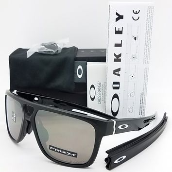 NEW Oakley Crossrange Patch sunglasses Matte Black Prizm 9391-0260 Asian Cross