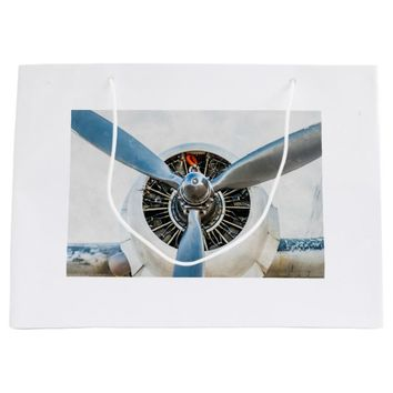 Douglas DC-3 Aircraft. Propeller Large Gift Bag