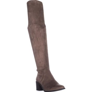 Steve Madden Wein Studded Knee High Boots, Taupe, 8 US