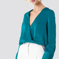 Wrap Satin Top