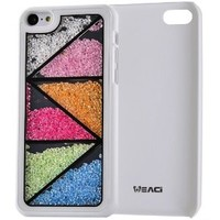 Meaci Apple Iphone 5c Case Glitter Bling Neon Rhinestone Series Protective Case -Geometry(xxv)
