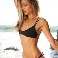 Frankies Bikinis Kaia bottom in black
