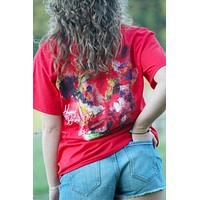 Sassy Frass Watercolor Cow Heavens to Betsy Girlie Bright T Shirt