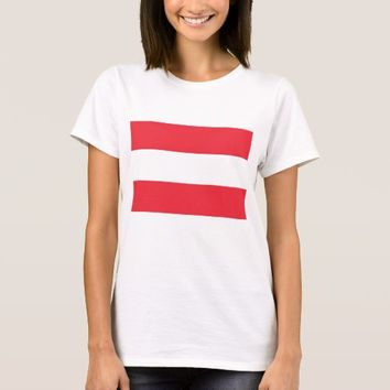 Women T Shirt with Flag of Austria