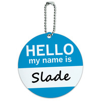 Slade Hello My Name Is Round ID Card Luggage Tag