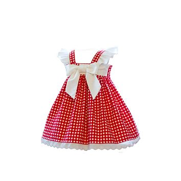 RTS Red Gingham Dress 2T