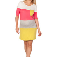 Color Blocked Lightweight Casual Maternity Dress
