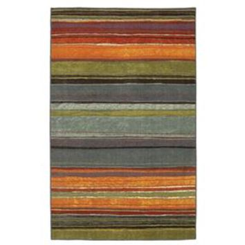 Rainbow Stripes Area Rug with Orange, Blue, Green, Red and Purple 5'x8'