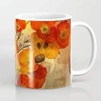 Poppy Expressions Mug by Theresa Campbell D'August Art