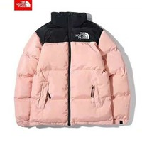 The North Face Winter Newest Trending Women Men Stylish Zipper Cardigan Cotton Jacket Coat Windbreaker Pink