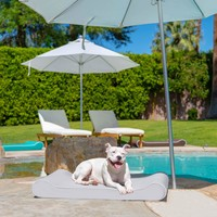 Outdoor Ortho Contour Lounger with Waterproof Cover