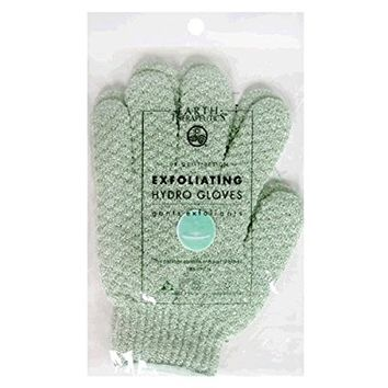 Earth Therapeutics Hydro Exfoliating Gloves, Jade, 1 pair