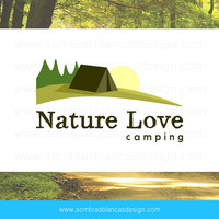 OOAK Premade Logo Design - Camping Landscape - Perfect for a hiking club or a blog about national parks
