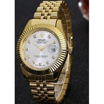 Rolex Men Fashion Trending Quartz Watches Wrist Watch White dial G