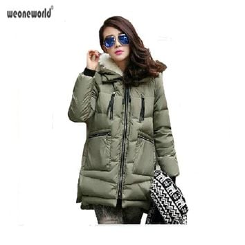 Maternity Winter Coat 2018 Solid Thicken Clothes For Pregnant Women Fashion Down Cotton Wadded Coat Women Parkas Chaqueta Mujer
