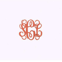 Custom Monogram Cookie Stamp, Rubber Stamp Hand Carved for Weddings, Showers, Wedding Stationary