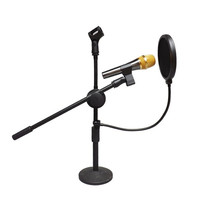 High Quality Studio Microphone Mic Windscreen Pop Filter Mask Shield Double Layer  7_S (Color: Black) = 1916387908