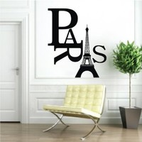 2014 Fashion Paris Eiffel Tower Removable PVC Wall Sticker Home Kids Room Decor Art Decal:Amazon:Home & Kitchen