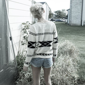 Vintage Tribal / Aztec Sweater! Womens Size Small