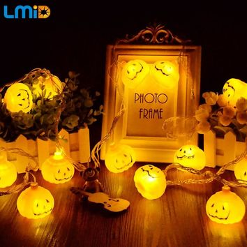 LMID 3AA Battery Powered LED String Light 2M 3M 4M  Holloween Pumpkin LED Fairy Lights Decoration Home Party Holiday Bedroom