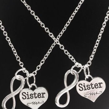 2 Necklaces Sister Infinity Best Friends Forever BFF