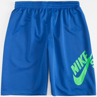 Nike Sb Mesh Swoosh Boys Dri-Fit Shorts Royal  In Sizes