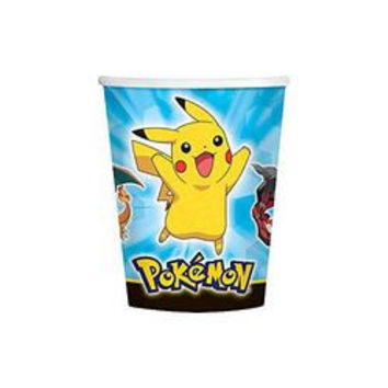 Pokemon Pikachu and Friends 9 oz Cups [8 Per Pack]