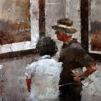 Andre Kohn The Connoisseurs [Andre Kohn_A7197] - $99.00 oil painting for sale|Wonderful artwork|Buy it at once.