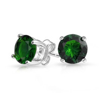 Bling Jewelry Green Light Studs