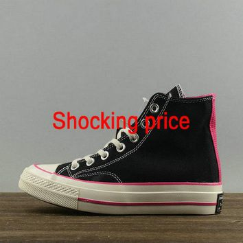 2018 Newest Women Converse Chuck Taylor All Star 1970s High Black Pink White 149445 newest sneaker