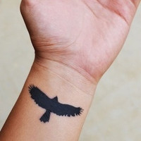 Hawk Temporary Tattoo