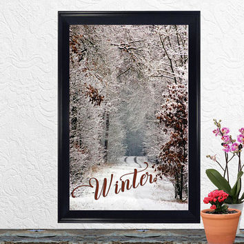 Winter Decor – Winter Print – Winter – Seasons – Wall Art - Housewarming, Birthday, Wedding Gift – Office Decor – Instant Printable Download