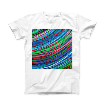 The Colorful Strokes ink-Fuzed Front Spot Graphic Unisex Soft-Fitted Tee Shirt