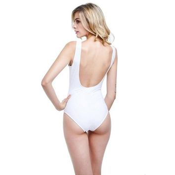 swimsuit womens separate One 1 Piece Swimsuit Push Up sexy Women Bathing Suit Pure color Tankini  monokini Brazil 2018 Swimwear