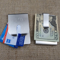 Harrison Money Clip- Stainless Steel Money clip- Groomsman gift- Mens Gift- (266)