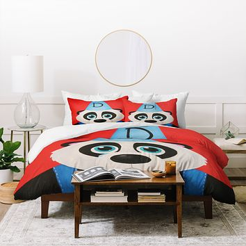 Mandy Hazell Sad Panda Duvet Cover