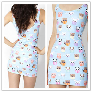 NEW 2015 Sexy Women summer Vest tops Fashion KAWAII BLUE woman black milk clothing Dress High Quality -in Dresses from Women's Clothing & Accessories on Aliexpress.com | Alibaba Group