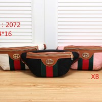 """Gucci"" Unisex Chest Bag Fashion Casual Graffiti Letter Pattern Single Shoulder Messenger Bag Big Waist Bag"