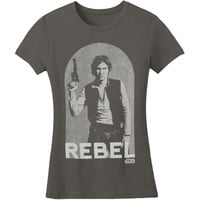 Star Wars Women's  Han Rebel Girls Jr Grey