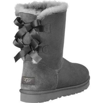 ugg bow leather boots boots in tube-6