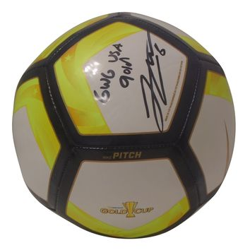 Jordan Morris Autographed Nike 2017 Gold Cup Logo Soccer Ball, Proof Photo