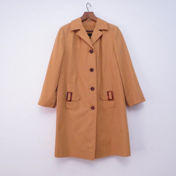 Quelrayn Gold Coat Jacket with Tortoise Shell Trim and Buttons M to L